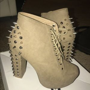 Shoes - Studded platform booties
